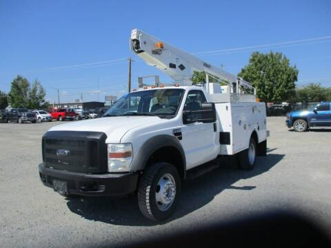 2008 Ford F450  37ft Bucket Truck  4X4 for sale at BJ'S COMMERCIAL TRUCKS in Spokane Valley WA