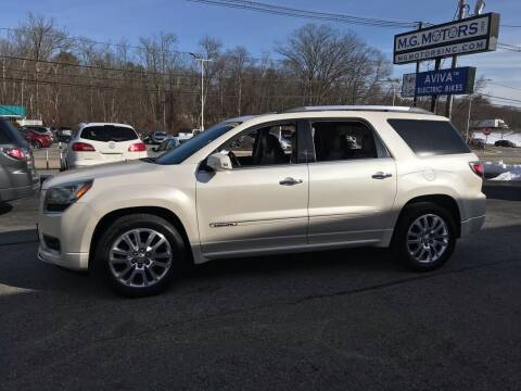 2014 GMC Acadia for sale at M G Motors in Johnston RI