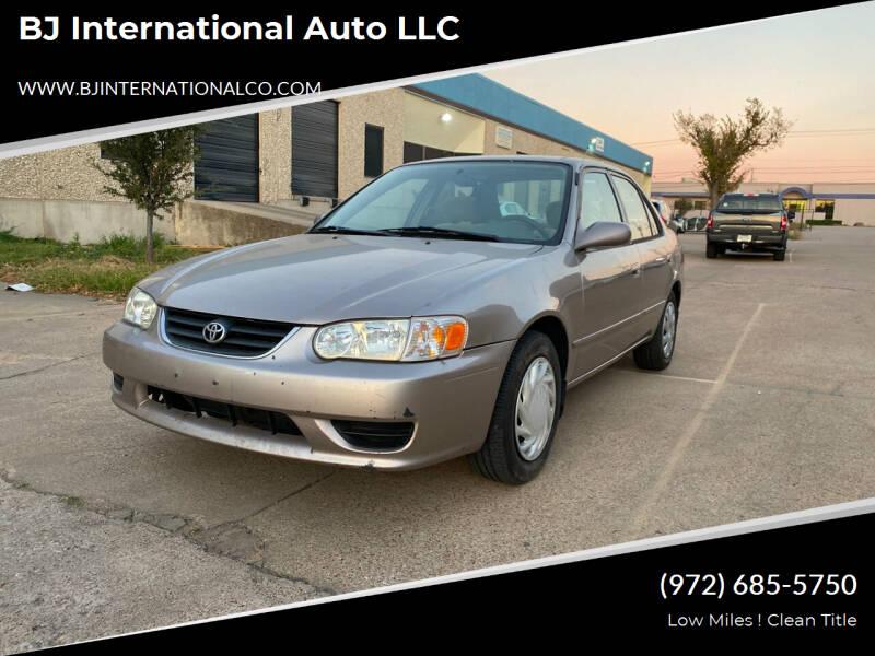 2002 Toyota Corolla for sale at BJ International Auto LLC in Dallas TX