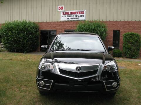 2010 Acura RDX for sale at Unlimited Auto Sales & Detailing, LLC in Windsor Locks CT