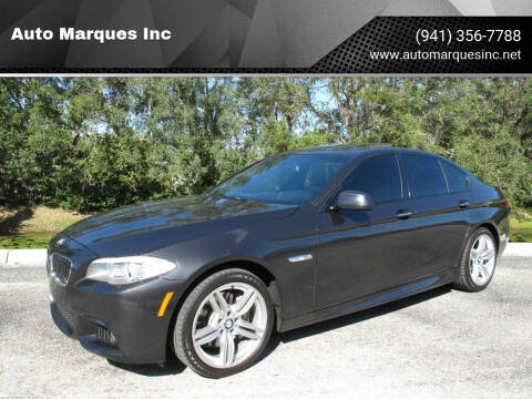 2013 BMW 5 Series for sale at Auto Marques Inc in Sarasota FL