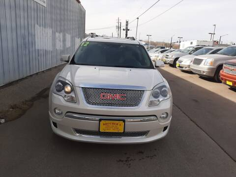 2012 GMC Acadia for sale at Brothers Used Cars Inc in Sioux City IA