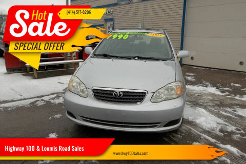 2008 Toyota Corolla for sale at Highway 100 & Loomis Road Sales in Franklin WI