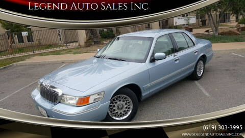 2002 Mercury Grand Marquis for sale at Legend Auto Sales Inc in Lemon Grove CA