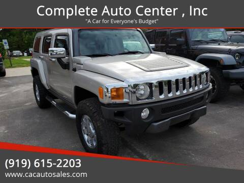 2007 HUMMER H3 for sale at Complete Auto Center , Inc in Raleigh NC