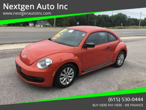 2016 Volkswagen Beetle for sale at Nextgen Auto Inc in Smithville TN