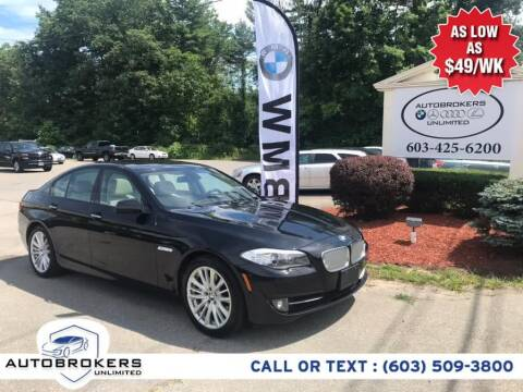2011 BMW 5 Series for sale at Auto Brokers Unlimited in Derry NH