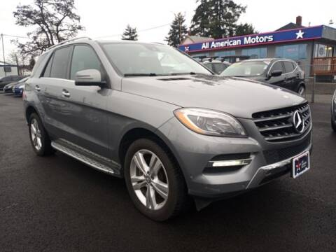 2013 Mercedes-Benz M-Class for sale at All American Motors in Tacoma WA