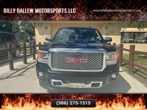 2015 GMC Sierra 1500 for sale at Billy Ballew Motorsports LLC in Daytona Beach FL