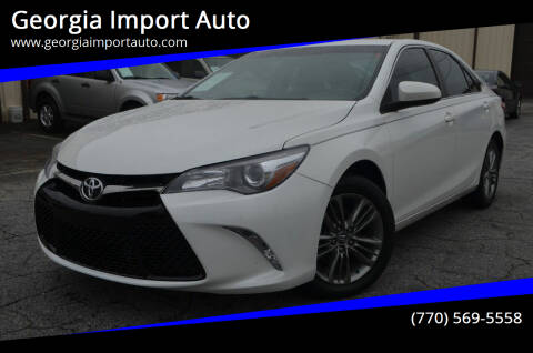 2017 Toyota Camry for sale at Georgia Import Auto in Alpharetta GA
