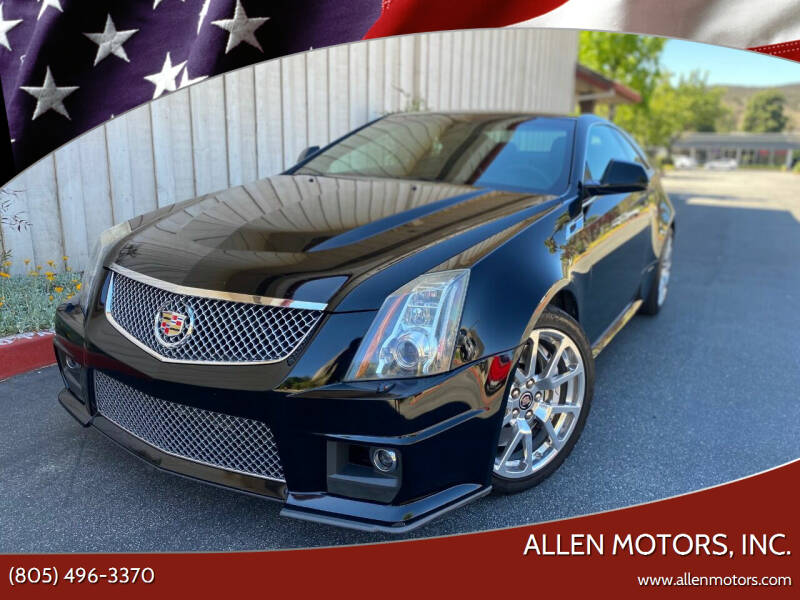 2012 Cadillac CTS-V for sale at Allen Motors, Inc. in Thousand Oaks CA