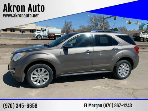 2011 Chevrolet Equinox for sale at Akron Auto - Fort Morgan in Fort Morgan CO