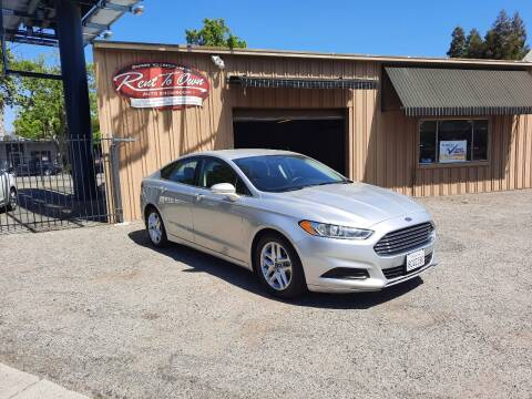 2015 Ford Fusion for sale at Rent To Own Auto Showroom LLC - Finance Inventory in Modesto CA