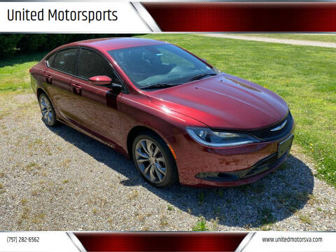 2015 Chrysler 200 for sale at United Motorsports in Virginia Beach VA