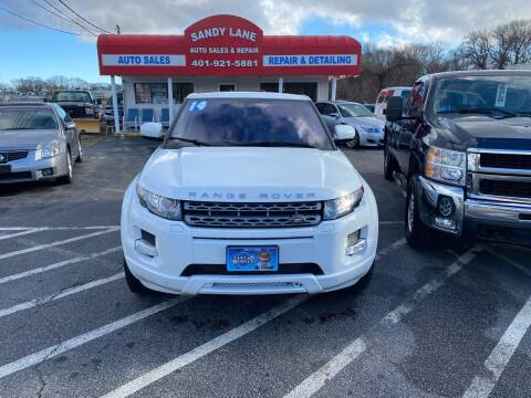 2014 Land Rover Range Rover Evoque for sale at Sandy Lane Auto Sales and Repair in Warwick RI