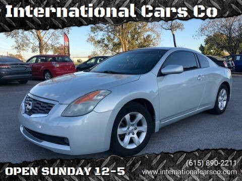 2008 Nissan Altima for sale at International Cars Co in Murfreesboro TN