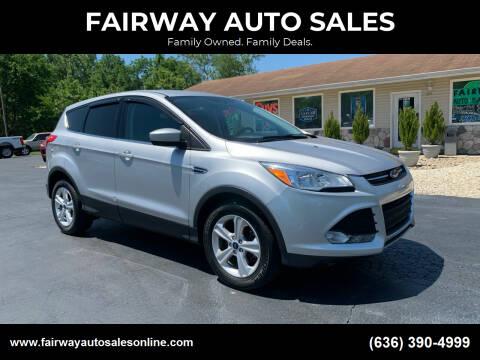 2016 Ford Escape for sale at FAIRWAY AUTO SALES in Washington MO