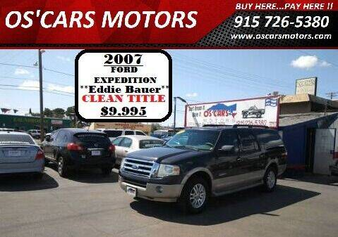 2007 Ford Expedition EL for sale at Os'Cars Motors in El Paso TX