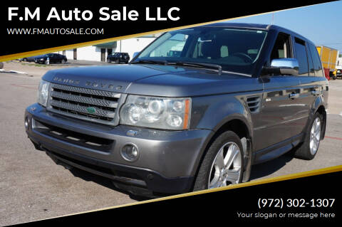 2009 Land Rover Range Rover Sport for sale at F.M Auto Sale LLC in Dallas TX