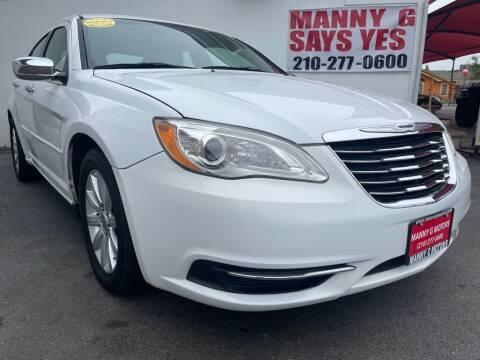 2013 Chrysler 200 for sale at Manny G Motors in San Antonio TX
