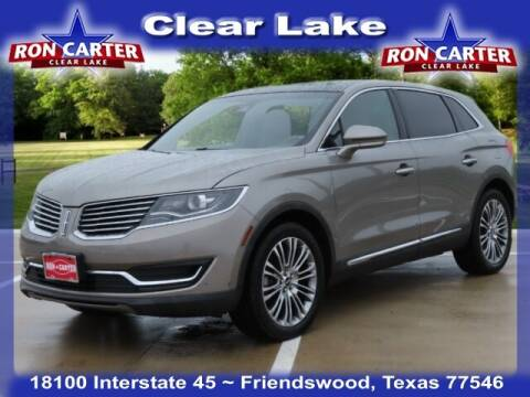 2017 Lincoln MKX for sale at Ron Carter  Clear Lake Used Cars in Houston TX