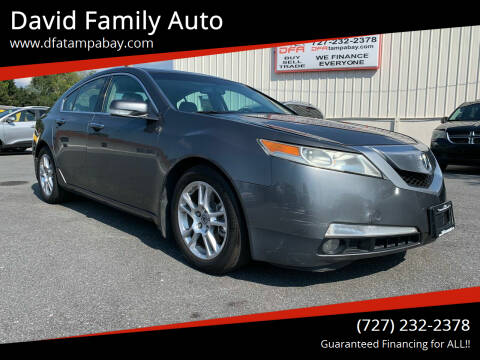 2009 Acura TL for sale at David Family Auto in New Port Richey FL