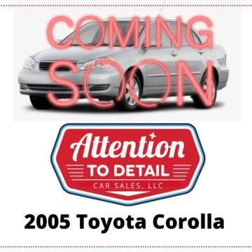 2005 Toyota Corolla for sale at Attention to Detail - Car Sales, LLC in Ogden UT