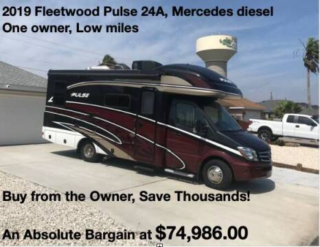 2019 Fleetwood Pulse 24A for sale at RV Wheelator in North America AZ