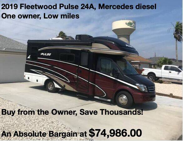 2019 Fleetwood Pulse24A for sale at RV Wheelator in Tucson AZ
