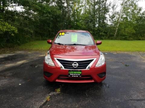 2018 Nissan Versa for sale at L & R Motors in Greene ME