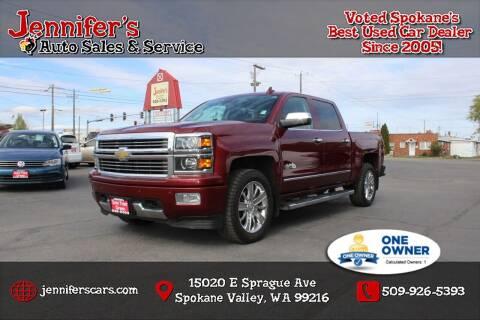 2015 Chevrolet Silverado 1500 for sale at Jennifer's Auto Sales in Spokane Valley WA