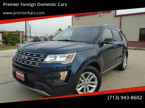 2016 Ford Explorer for sale at Premier Foreign Domestic Cars in Houston TX