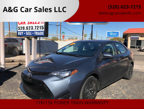 2017 Toyota Corolla for sale at A&G Car Sales  LLC in Tucson AZ