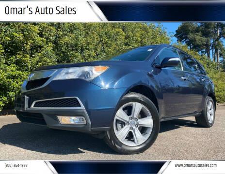 2011 Acura MDX for sale at Omar's Auto Sales in Martinez GA