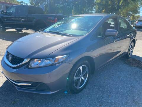 2015 Honda Civic for sale at Atlantic Auto Sales in Garner NC
