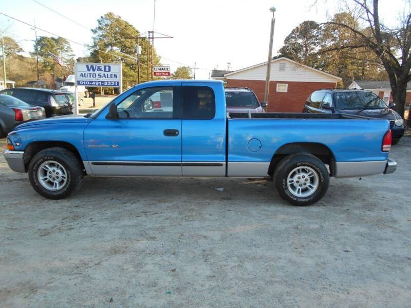 1998 Dodge Dakota for sale at W & D Auto Sales in Fayetteville NC
