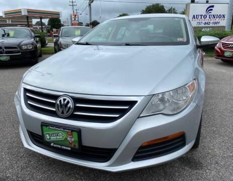 2012 Volkswagen CC for sale at Auto Union LLC in Virginia Beach VA