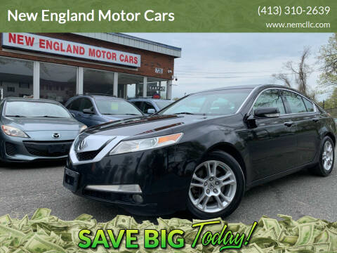 2009 Acura TL for sale at New England Motor Cars in Springfield MA