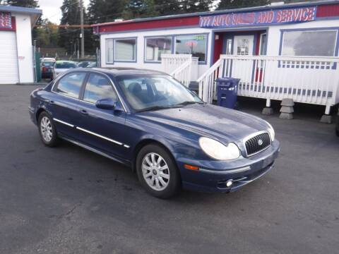 2002 Hyundai Sonata for sale at 777 Auto Sales and Service in Tacoma WA