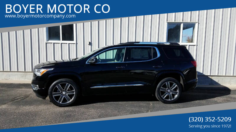 2017 GMC Acadia for sale at BOYER MOTOR CO in Sauk Centre MN