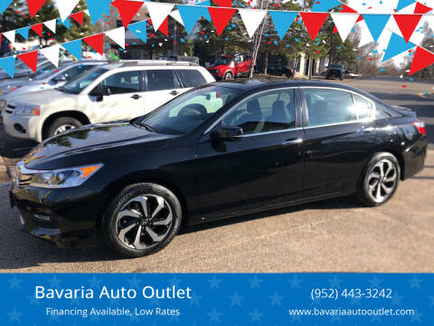 2016 Honda Accord for sale at Bavaria Auto Outlet in Victoria MN