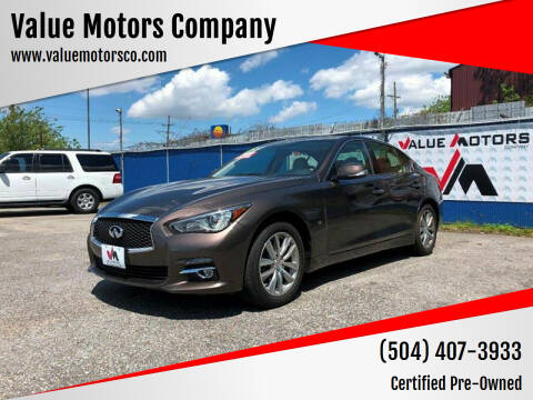 2015 Infiniti Q50 for sale at Value Motors Company in Marrero LA
