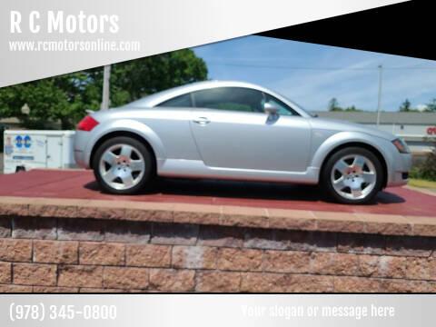 2001 Audi TT for sale at R C Motors in Lunenburg MA