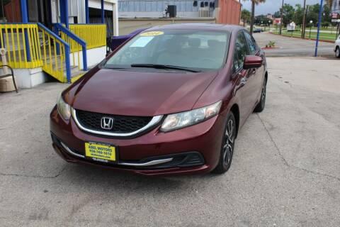 2014 Honda Civic for sale at Abel Motors, Inc. in Conroe TX