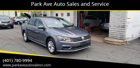 2017 Volkswagen Passat for sale at Park Ave Auto Sales and Service in Cranston RI