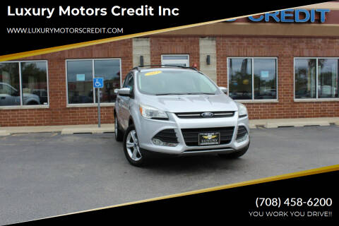 2013 Ford Escape for sale at Luxury Motors Credit Inc in Bridgeview IL