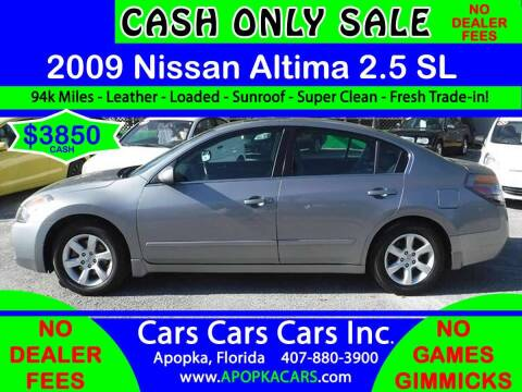 2009 Nissan Altima for sale at CARS CARS CARS INC in Apopka FL