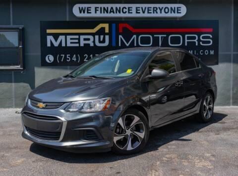 2017 Chevrolet Sonic for sale at Meru Motors in Hollywood FL