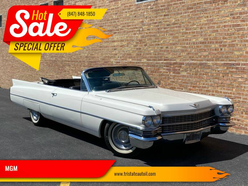 1963 Cadillac DeVille for sale at MGM CLASSIC CARS in Addison IL