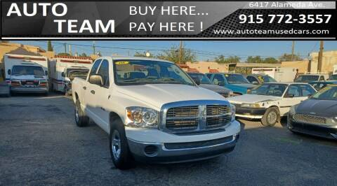 2008 Dodge Ram Pickup 1500 for sale at AUTO TEAM in El Paso TX